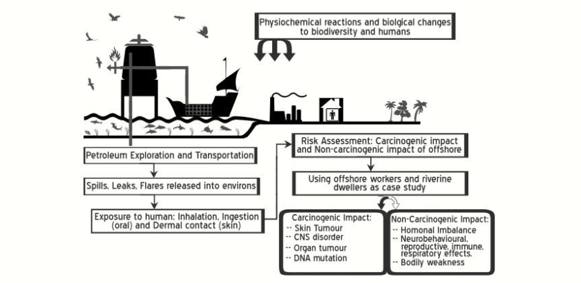 Risk Assessment of Polycyclic Aromatic Hydrocarbons and Total Petroleum Hydrocarbons in Oilfield Produced Water and Sea Water at Gulf of Guinea Oilfield, Nigeria